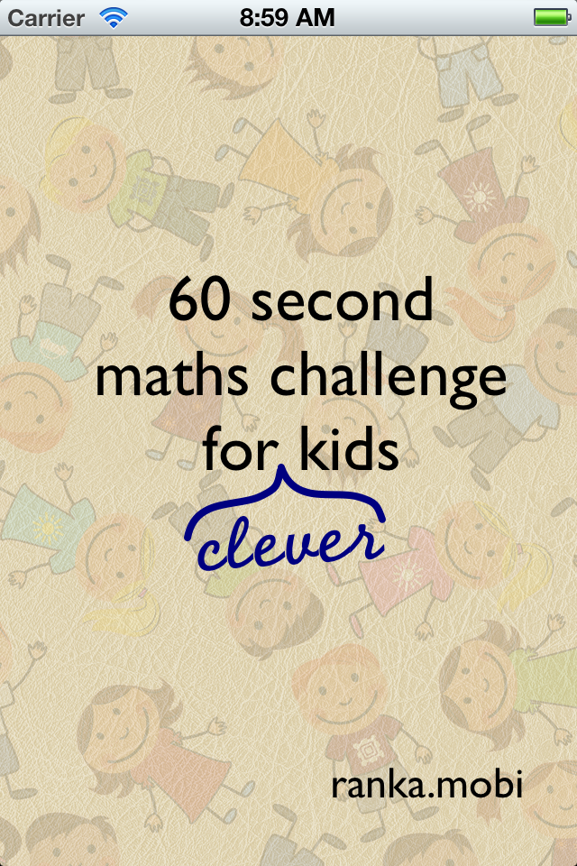 Screenshot 60 second maths challenge for kids