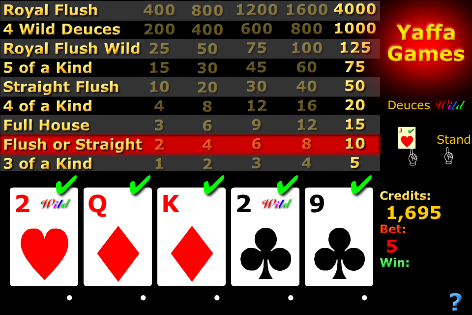 Screenshot VPoker (video poker)